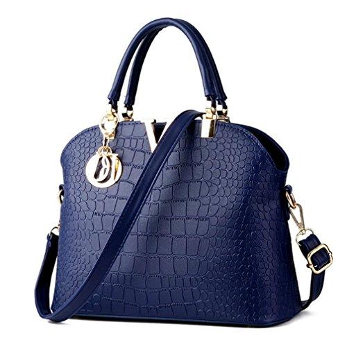 Blue ZAWARA Purse Top Women Satchel Work Bag Royal Handbags Casual Handle Tote OHOx1pRw