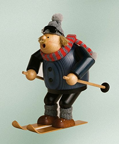 KWO Downhill Skier German Christmas Incense Smoker Made in Germany Skiing Decor by Pinnacle Peak Trading Company