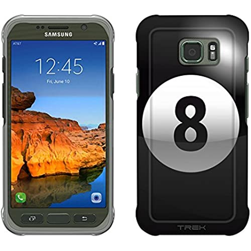 Samsung Galaxy S7 Active Case, Snap On Cover by Trek Black 8 Ball Pool Ball Slim Case Sales
