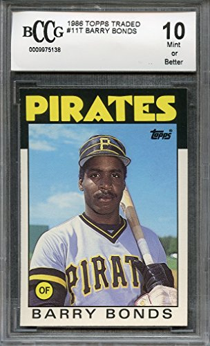 1986 topps traded #11t BARRY BONDS san francisco giants rookie card BGS BCCG 10 Graded Card