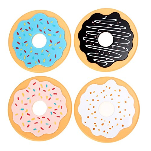 4Pcs/Lot Round Donut Coasters Drink Beverage Cup Mats cup mat plastics coaster posavasos (Harry Pocket Polly Potter)