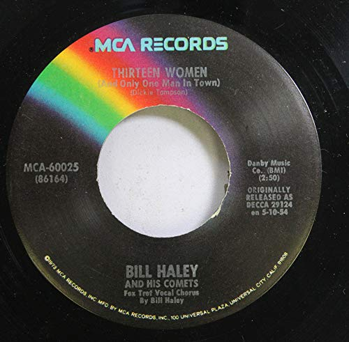 Price comparison product image Bill haley 45 RPM thirteen women ( and only one man in town) / rock around the clock