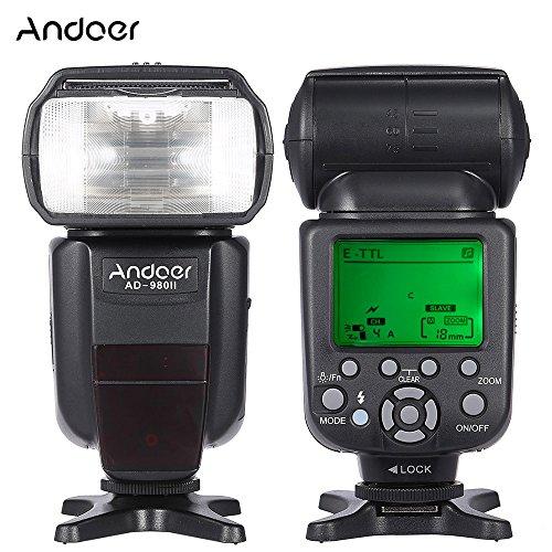 HAMISS Andoer AD-980II E-TTL HSS 1/8000s Master Slave GN58 Flash Speedlite for Canon 5D Mark III/5D Mark II/6D/5D DSLR Camera
