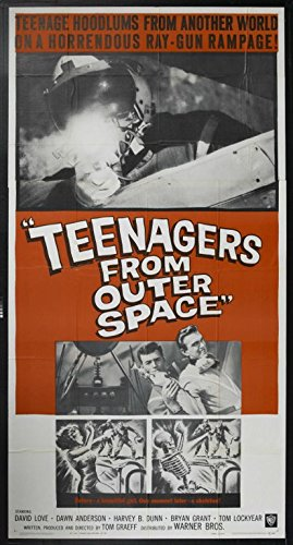 Teenagers From Outer Space (1959) Original Movie Poster