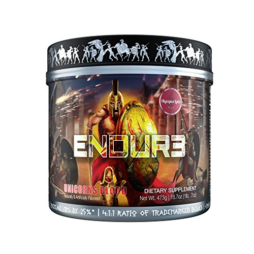 ENDUR3 Intra Workout BCAA Supplement | 4:1:1 Ratio of Trademarked Amino Acid Blend at Clinical Dosage | Best Drink for Endurance & Recovery | 30 Servings (Unicorns Blood) by Olympus Labs (Image #7)