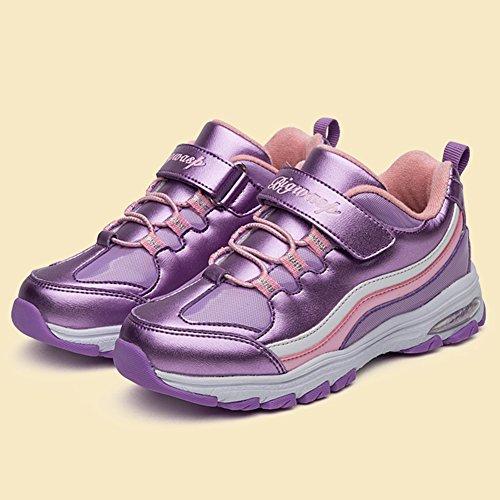 InStar Kids' Super Cute Hook and Loop Strap Antiskid Sports Sneakers Shoes