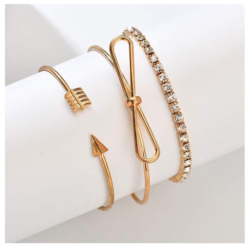 Jiuyuan Crystal Charm Bracelets Bangles Star Moon Heart Love Bangle Boho Indian Jewelry