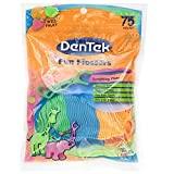 Dentek Kids Fun Flossers Wild Fruit Floss Picks, 75 Ct (Pack of 2)
