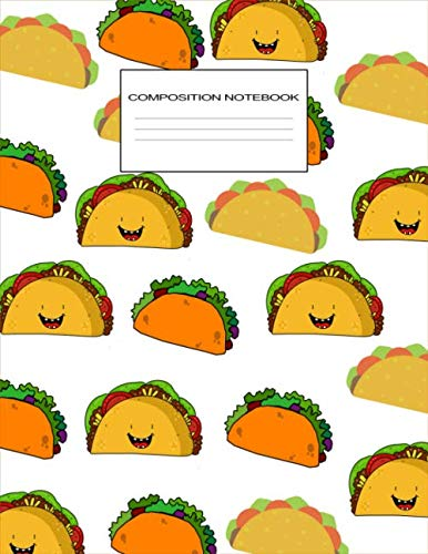 Composition Notebook: Taco Lovers Gift Ideas, Cute Taco Pattern Wide Ruled Composition Notebook for Elementary Students, Large Lined Journal by Little Red Berry Publishing