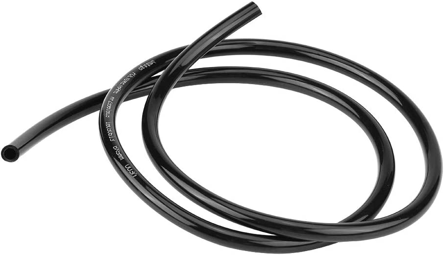 Broco Universal Fuel Line Hose Petrol Gas Oil Tube Pipe Motorcycle Universal Non Braided Rubber Fuel Line Hose Petrol Oil Pipe 1m Long Black