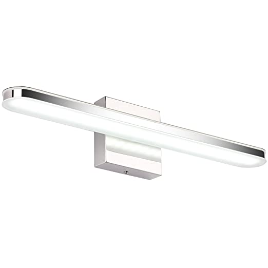 Amazon.com: Lámpara LED de baño de acero inoxidable para ...
