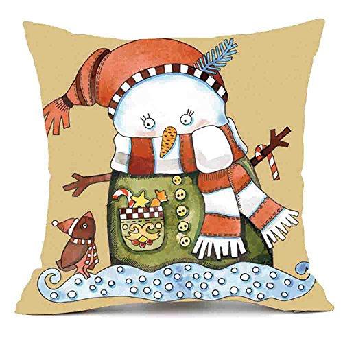 Merry Christmas Pillowcase Snowman Deers Christmas Tree Pumpkin Cushion Case Xmas Throw Pillow Covers 18