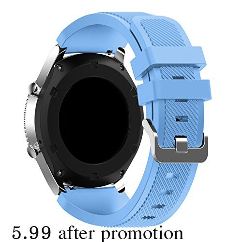 Samsung Gear s3 Bands, Soft Silicone Band Replacement for Samsung Gear S3 Frontier / S3 Classic Smart Watch for Replacement Accessories Bracelet Wrist ...