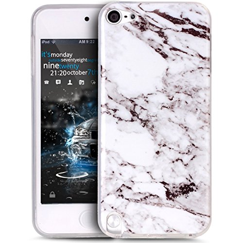 Price comparison product image UCLLiPod Touch 6 Case ,iPod Touch 5 Case , Marble Design Slim Soft TPU Bumper Protective Durable Shockproof Case For Ipod Touch 5/Touch 6 (White)