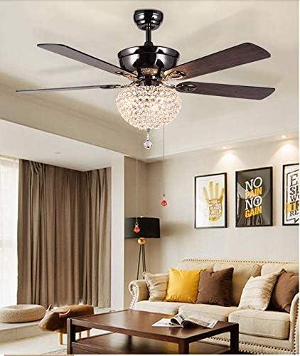 """Sweety House 52″Ceiling Fan Crystal Chandelier Retro Drawstring Fan Chandelier Adjustable Fan Home Decoration Lighting Fan Chandelier 52 """"Crystal Chandelier"""