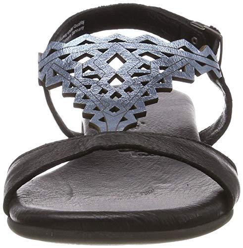 blue Metal 1 48 22 Mujer 28246 Para Negro Con Tamaris 1 Sandalia Pulsera black P7Odnx