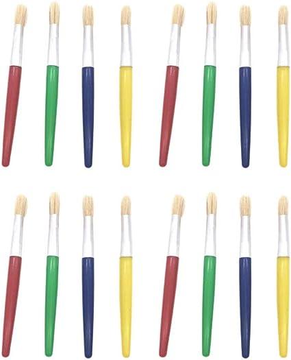 Exceart 28 Pcs Pinceau Peinture Art Pinceaux Peinture Accessoires De Dessin Stylo Graffiti Tete Ronde Amazon Fr Cuisine Maison