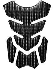 Motorcycle Sticker, Fuel Tank Sticker 3D Sticker-Black Decals for Suzuki Yamaha Honda Kawasaki KTM BMW Harley Pad Accessories