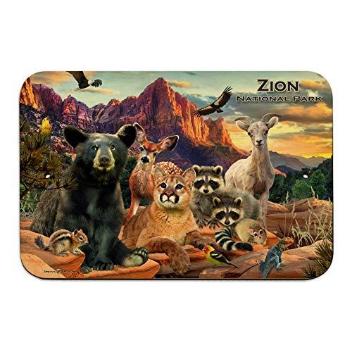 GRAPHICS & MORE Zion National Park Utah UT Animals Cougar Bear Deer Raccoons Home Business Office Sign - Wood - 6