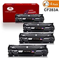 83a CF283a Toner Cartridge Black 4Pack Toner Kingdom Replacement For HP CF283a Used in HP LaserJet Pro MFP M127fn M125a M201n M201dw M225dn M225dw M125nw M127fw