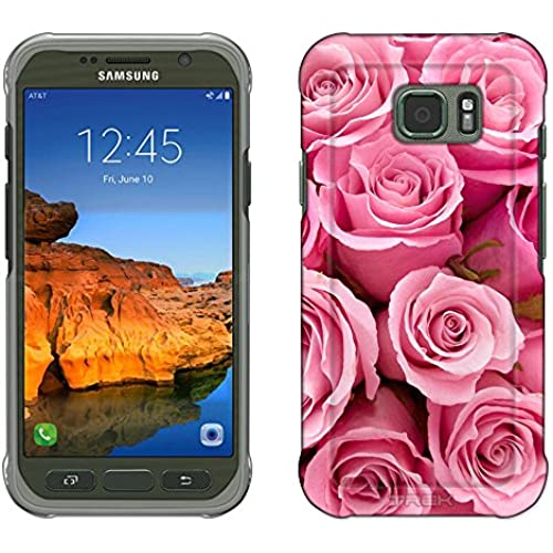 Samsung Galaxy S7 Active Case, Snap On Cover by Trek Beautiful Pink Roses Print Flowers Slim Case Sales