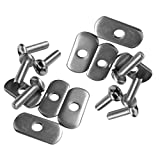Dovewill 8 Stainless Steel Kayak Rail/Track Screws & Track Nuts Hardware Gear Mounting Replacement Kit for Kayaks Canoes Boats Rails