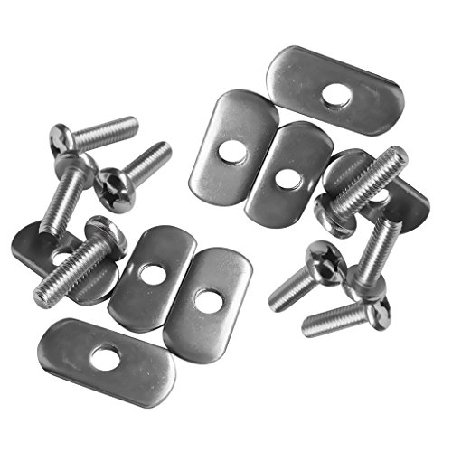 MagiDeal 8 Sets Durable Stainless Steel Screws & Nuts Hardware Replacement Kit Accessories for Kayak Track/ Rail by MagiDeal