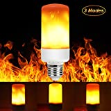 Flashing LED Flame Effect Fire Light Bulbs,E27 Flame Burning With the lamp light Wedge Bulbs for your Home, Garden, Party, Christmas Holiday - 3 Modes Flame Fire