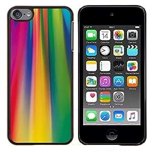 Planetar® ( Ácido líneas de colores fucsia patrón ) Apple iPod Touch 6 6th Touch6 Fundas Cover Cubre Hard Case Cover