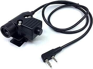 U94 PTT Military Adapter Mobile 2 Pin 7.0mm Plug Push to Talk for Kenwood//Baofeng Radio