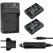 EN-EL14 Battery (2-Pack) and Charger for D3100, D3200, D3300, D5100, D5200, D5300, D5500, DF, Coolpix P7000, P7100, P7700, P7800 Cameras
