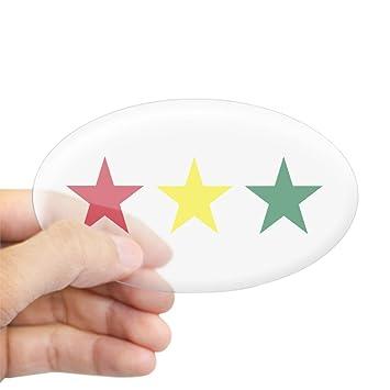 Amazon.com: CafePress – Reggae – Oval Bumper, Euro Oval ...