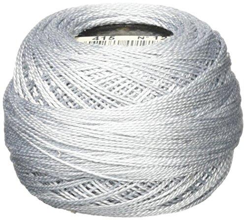 Cotton Pearl Thread (DMC 116 12-415 Pearl Cotton Thread Balls, Pearl Gray, Size 12)