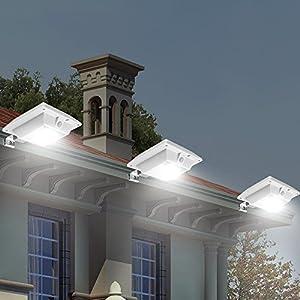 [New PIR Motion Sensor] HKYH 1 Pack Solar Motion Sensor Light Outdoor PIR Sensor Solar Powered Led/ Fence Wall Driveway Garden Patio Path Decking Light/ Improve Security Light