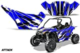 AMRRACING Arctic Cat Wildcat Sport Limited Full Custom UTV Graphics Decal Kit Attack Blue