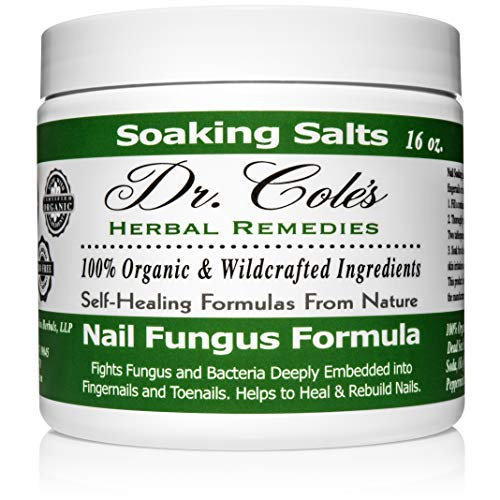 Dr. Cole's Organic Anti-fungal Hand & Foot Soaking Salts - Extra Strength, Herbal, Anti-fungus Treatment for Finger nails, Toenails & Athletes Foot Infections - Disinfects & Repairs Skin & Nails (Best Foot Soak For Nail Fungus)
