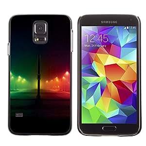 X-ray Impreso colorido protector duro espalda Funda piel de Shell para SAMSUNG Galaxy S5 V / i9600 / SM-G900F / SM-G900M / SM-G900A / SM-G900T / SM-G900W8 - Night Rainbow City Black