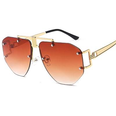 zxldsjhd Gafas Modelos femeninos Señoras Gafas de sol de personalidad Gafas de sol elegantes de cara redonda Marea: Ropa y accesorios