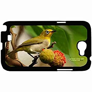 New Style Customized Back Cover Case For Samsung Galaxy Note 2 Hardshell Case, Back Cover Design Bird Personalized Unique Case For Samsung Note 2
