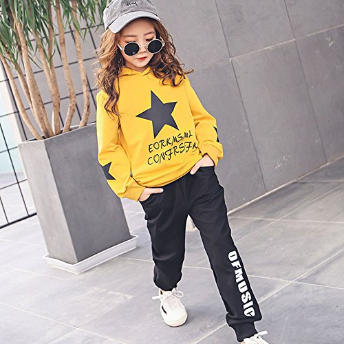 M&A Girls Autumn Casual Hoodie + Pant Set 2 Piece Tracksuit for 5-13T by M&A (Image #2)