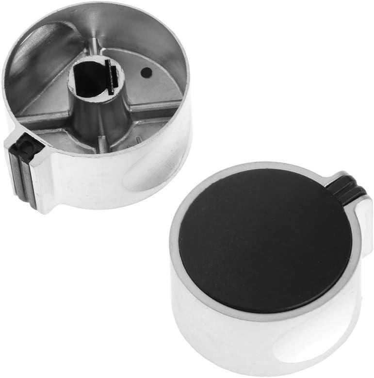 jiheousty 2 Piezas 8mm Agujero Metal Estufa de Gas Cocina Interruptor Giratorio perillas reemplazo Universal