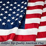 American Flag: Top Quality 3X5Ft US Flag- Heavy-Use Nylon w/ Embroidered Stars & Sewn Stripes - Deluxe Fast-Dry, All-Weather USA Flag For Outdoors & Indoors- Fly It With Pride