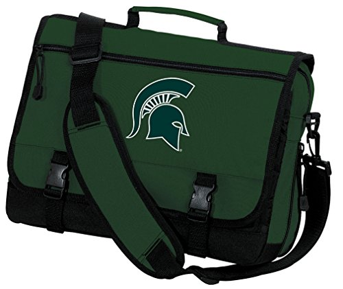 Broad Bay OFFICIAL Michigan State Laptop Bag Michigan State Messenger Bag by Broad Bay