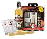 Caipi-Set VELHO BARREIRO Gold I - Fl. Cachaca+Stampfer+2 Gläser+Geschenkverpackung, Caipirinha Bundel