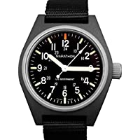 MARATHON WW194009 Swiss Made Military Field Army Watch with MaraGlo and Sapphire Crystal (Black)
