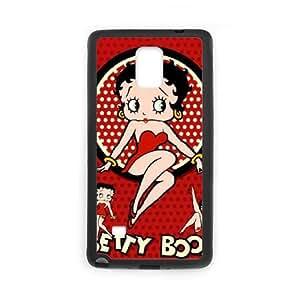 Betty Boop Funda Samsung Galaxy Note 4 Funda Caja del teléfono celular Negro P8M1IC7C caja del teléfono único personalizada