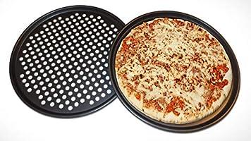 Pack 2 Bandejas pizza antiadherente 33 cm Bandeja de horno con ...