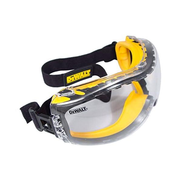 DEWALT DPG82-11 Concealer Clear Anti-Fog Dual Mold Safety Goggle 1