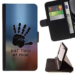 /Skull Market/ - DON'T TOUCH MY PHONE For Samsung Galaxy S5 Mini, SM-G800 - Caja de la carpeta del tir???¡¯???€????€???????&bdquo