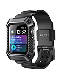 SUPCASE Apple Watch 4 Case 44mm 2018,Rugged Protective Case with Strap Bands for Apple Watch Series 4
